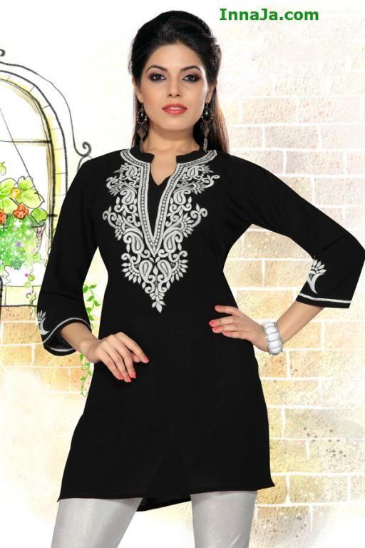 d595acae570109 Tunika elegancka z mikro żorżety Czarna Indie r.38 | allegro | Indie ...