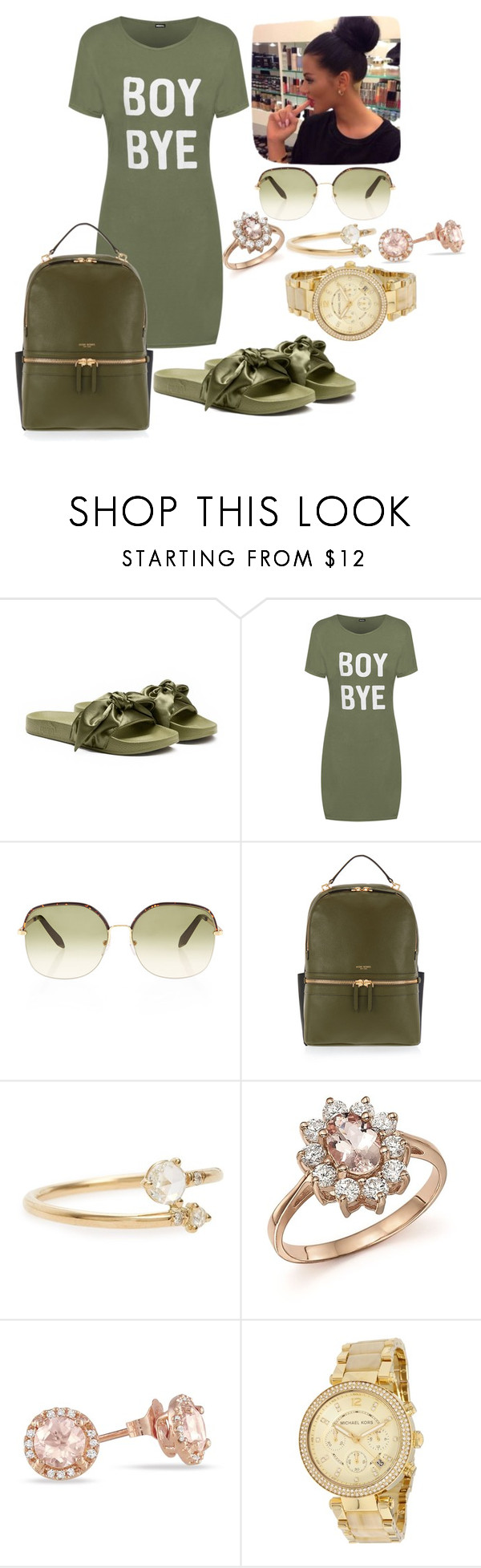 """4/1/17"" by breezygurl88 ❤ liked on Polyvore featuring Puma, WearAll, Victoria Beckham, Henri Bendel, WWAKE, Bloomingdale's and Michael Kors"
