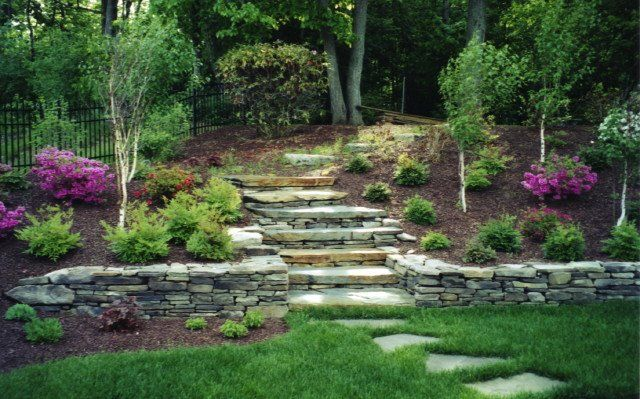 Wall Ends, Stairs And Tops. Garden Retaining WallsStone ...