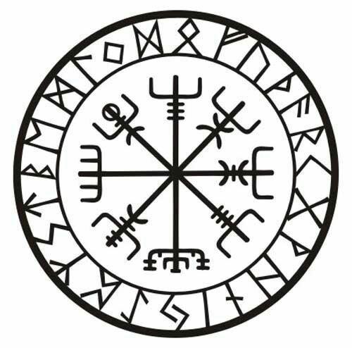 Tattoo The Compass Rune Protection Rune Viking Protection Rune Norse Tattoo