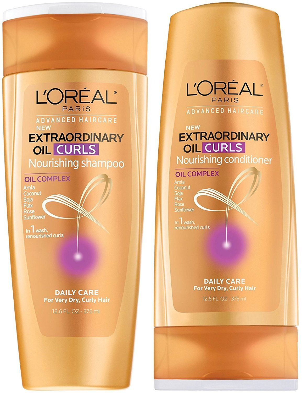 L Oreal Paris Advanced Haircare Extraordinary Oil Curls Nourishing Shampoo And Condit Shampoo And Conditioner Set Curl Shampoo Shampoo And Conditioner Sets