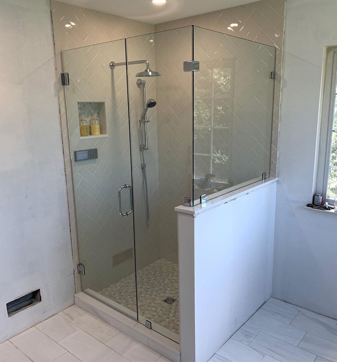 Elite Shower Doors On Instagram 3 Panel Frameless Shower Unsung