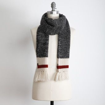 7878492c372ce Roots - Cabin Scarf: Ah, a scarf to keep the chill off the neck. Hey,  doesn't this match the hot water bottle cover??!! Cool! #CDNGetaway