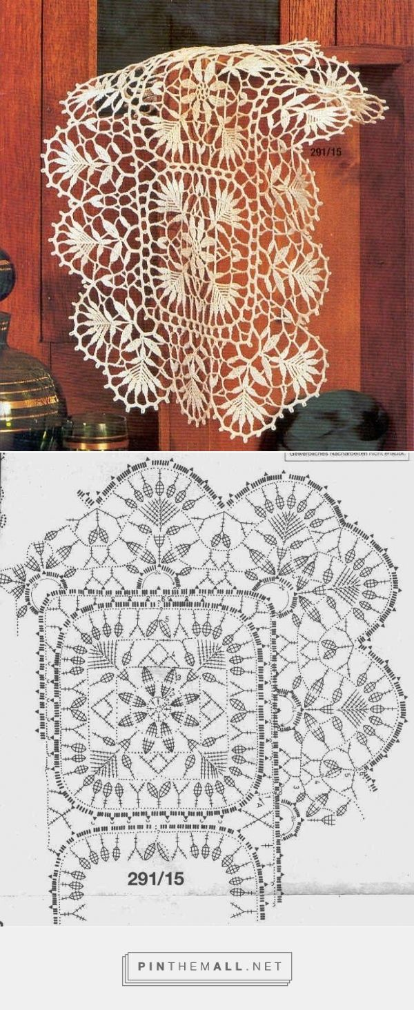 Delicate crochet lace doily nr 29115 with chart manteles y delicate crochet lace doily nr 29115 with chart ccuart Choice Image