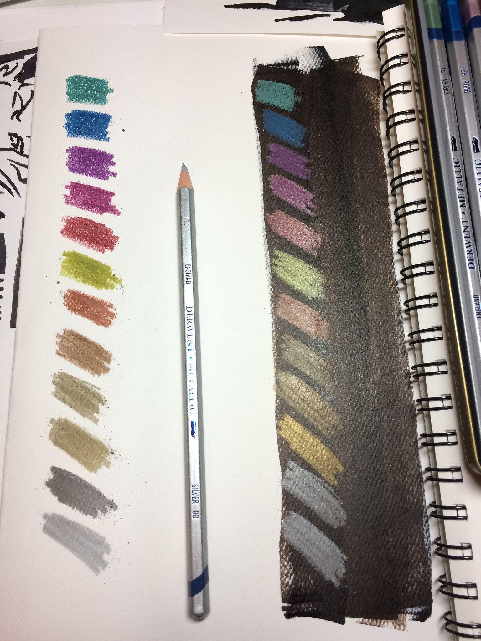 Derwent 12 Metallic Watercolor Pencils Quick Review Watercolor