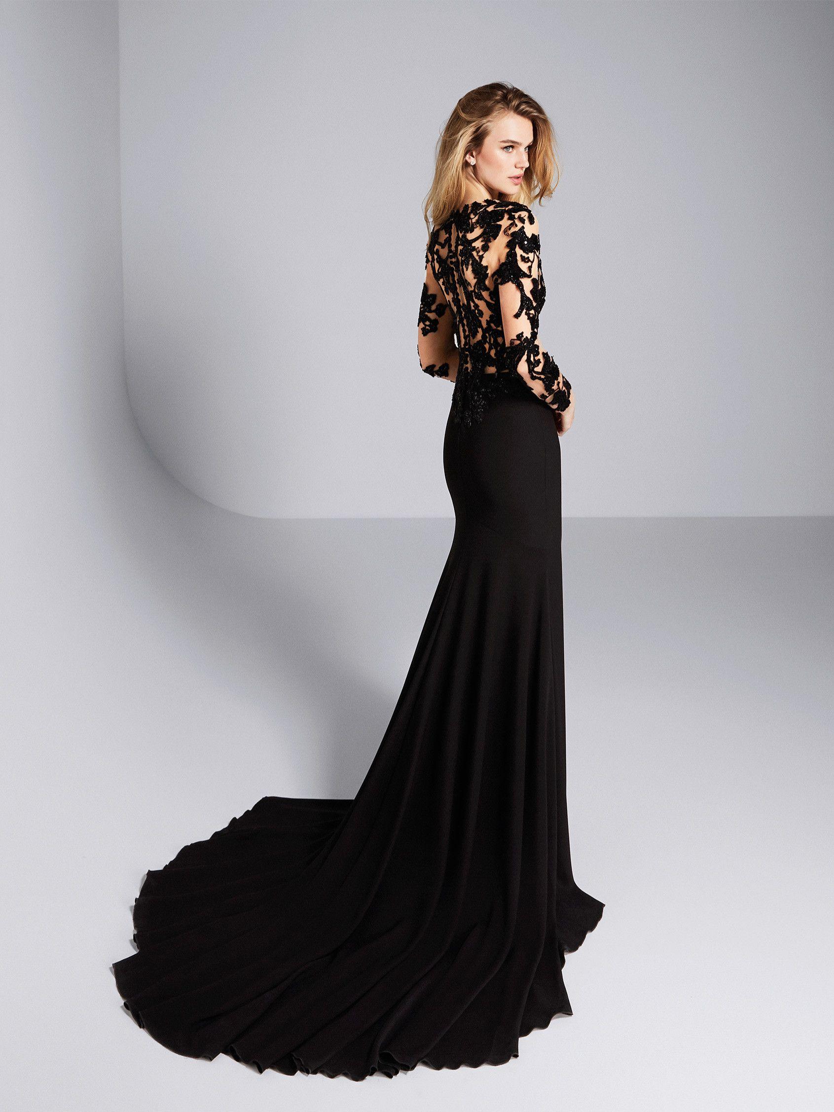 Giliana Sexy Illusion Bodice Wedding Guest Dress Pronovias