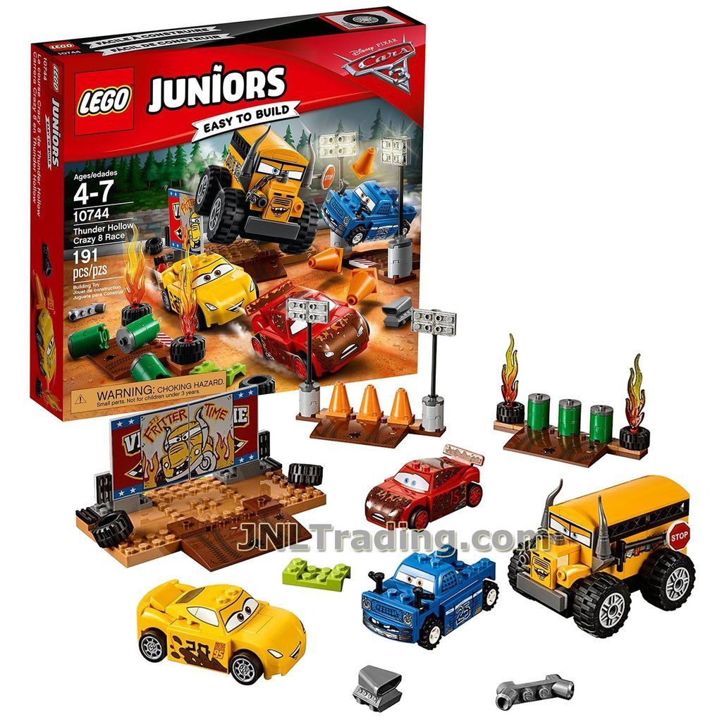 Off Road Lightning Mcqueen Lego Juniors Year 2017 Cars Series Set 10744 Thunder