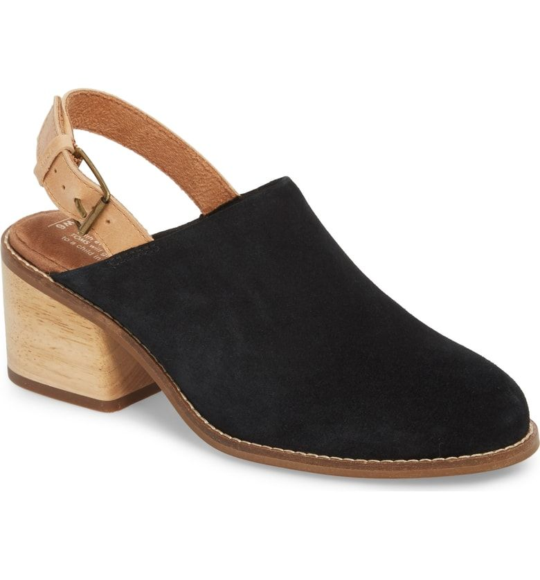 a190e8a3ced Free shipping and returns on TOMS Leila Slingback Mule (Women) at  Nordstrom.com. A slingback strap and woodgrain heel enhance the earthy  appeal of a suede ...