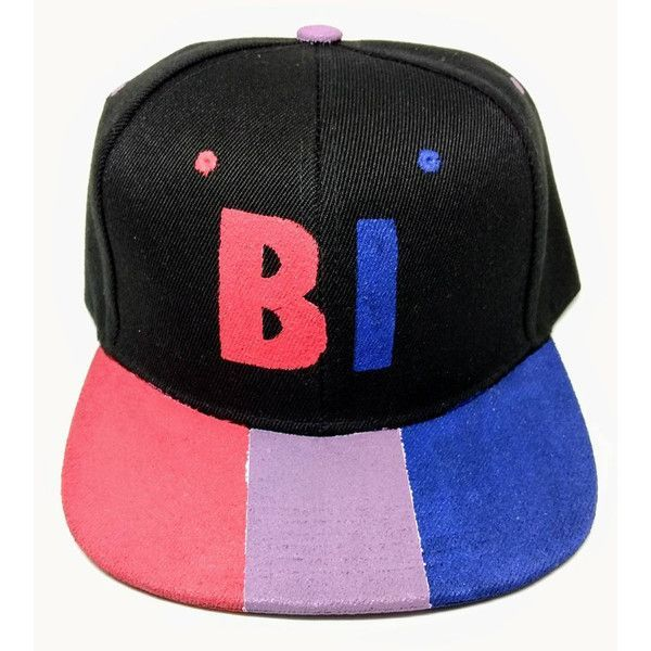 Bisexual Bi Pride Flag Snapback Hat LGBTQA+ ( 25) ❤ liked on Polyvore  featuring accessories e46c4c6fff56