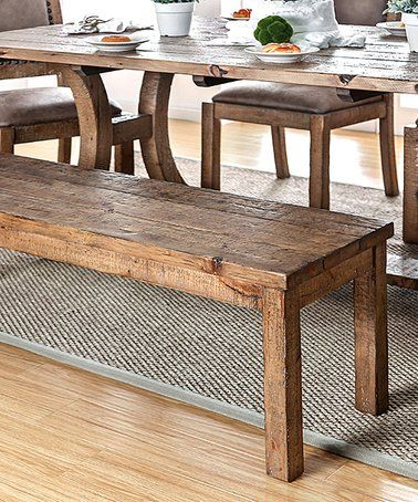 Loving This Rustic Pine Odell Dining Bench On #zulily! #zulilyfinds