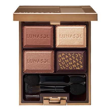Kanebo Lunasol Fall/Winter 2015 || Selection de Chocolat Eyes Palette || 02 Chocolat Amer