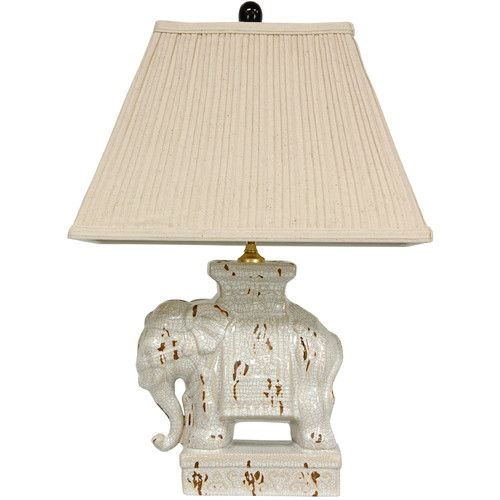 "Found it at Wayfair - Elephant 22"" H Table Lamp with Empire Shade"