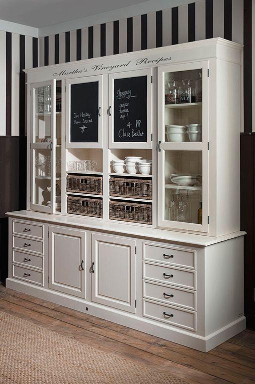alacena_grande_de_madera_blanca | cocina muebles | Pinterest ...