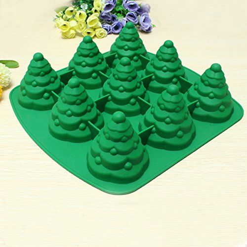 """3D Christmas Tree Cake Mould Silicone Cookie Chocolate Baking Mold"" shopping: Amazon.ca: Home & Kitchen"