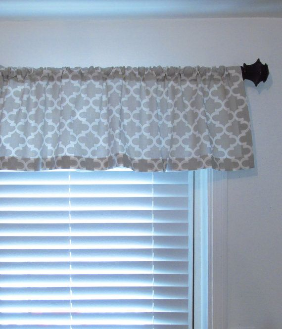 Nursery Curtains French Gray Quatrefoil Curtain By Oldstation With Images Quatrefoil Curtains Nursery Curtains Valance Curtains