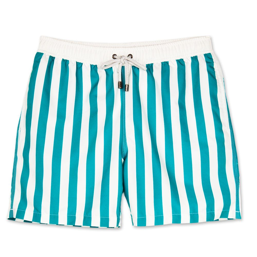 484b9da999a98 Bluemint mens swim trunks. Bluemint swimwear is perfect on the beach or at  the bar, every guys essential for this summer. Style: Arthur, Stripey Green