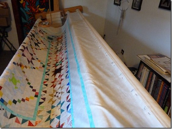 How to Load a 3 Roller hand quilting frame | Tutorials | Pinterest ...