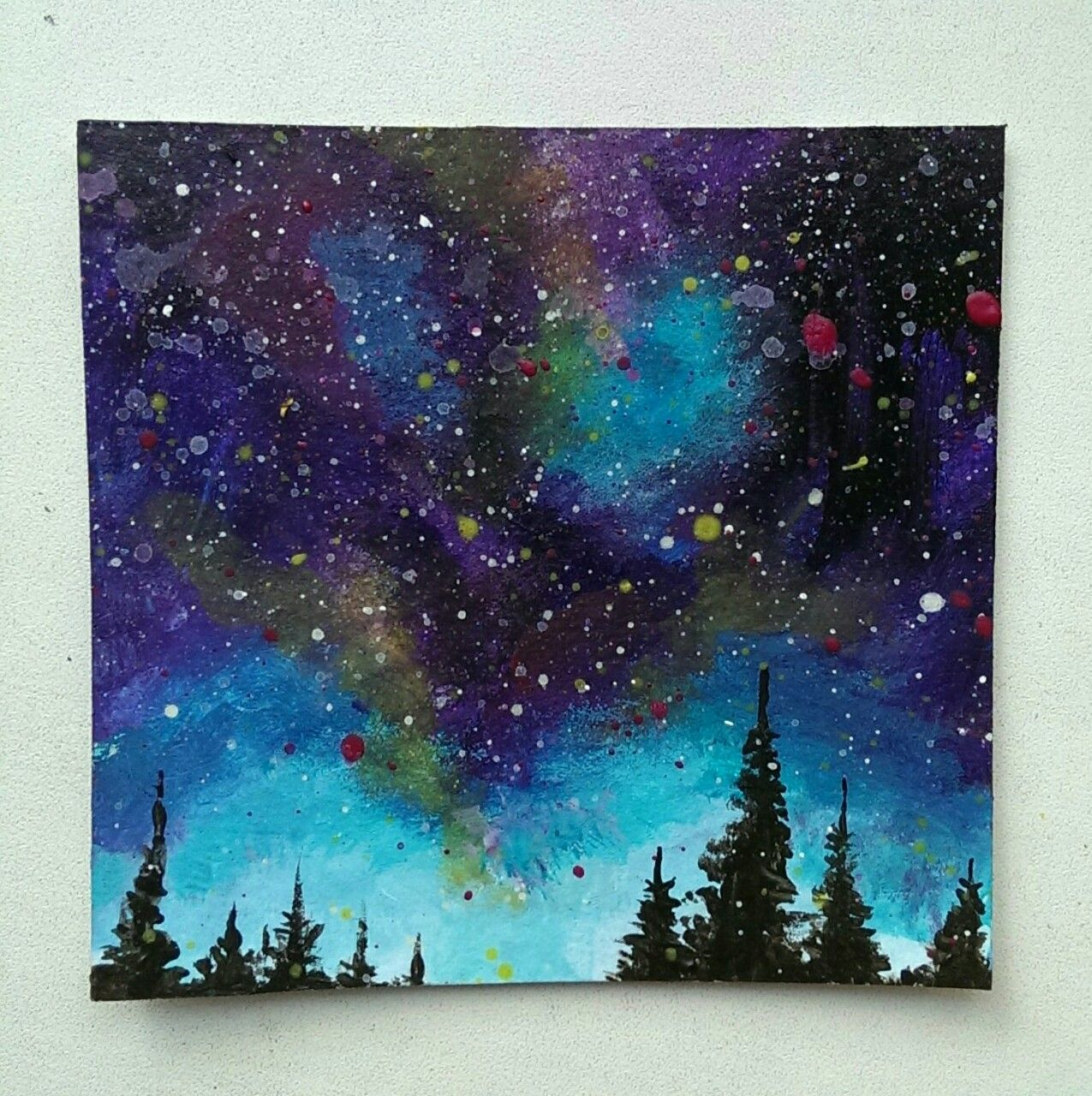 Galaxy Sky By Julia Bullet Paintings Galaxy Painting