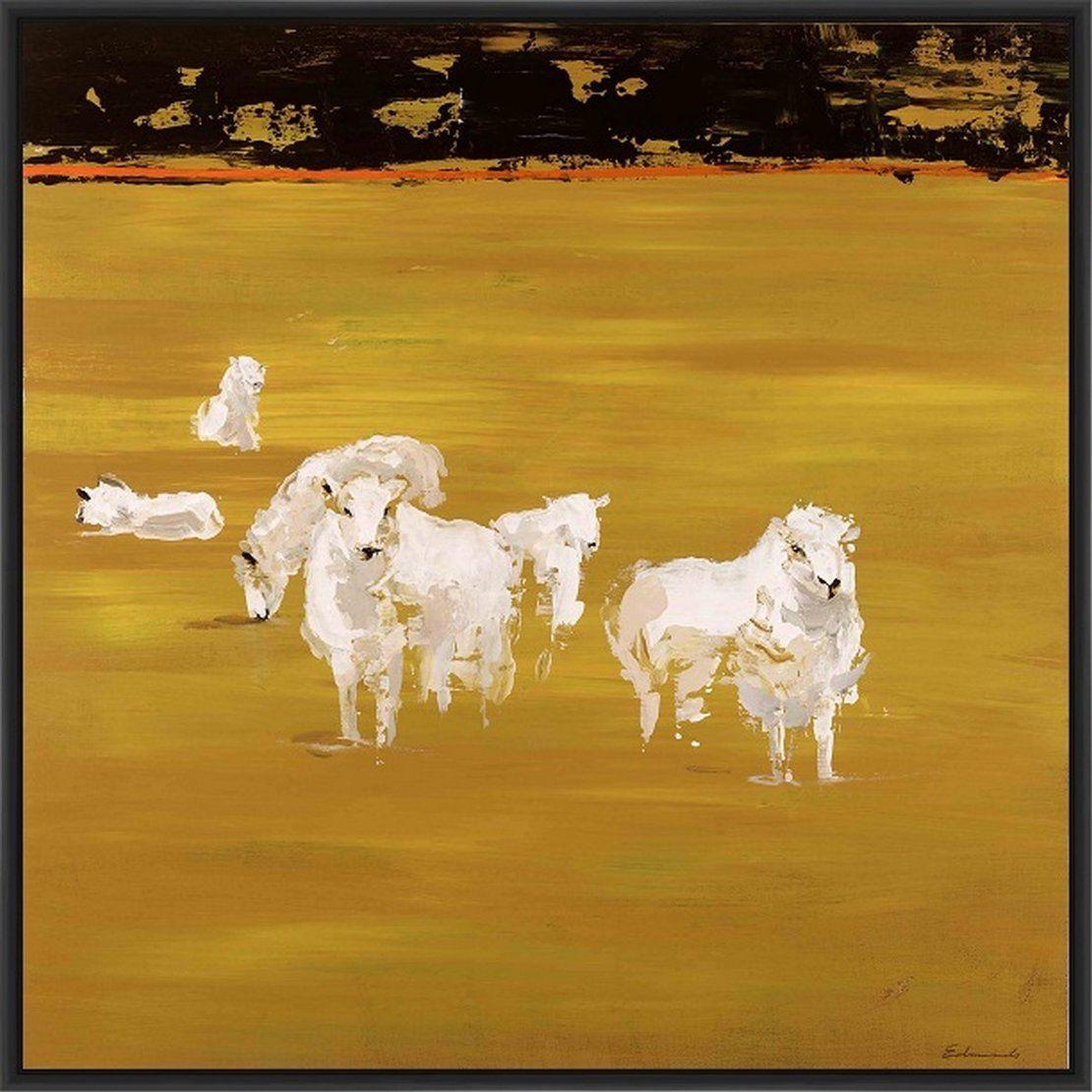 Yellow Patch\' Framed Print on Canvas | Art | Pinterest
