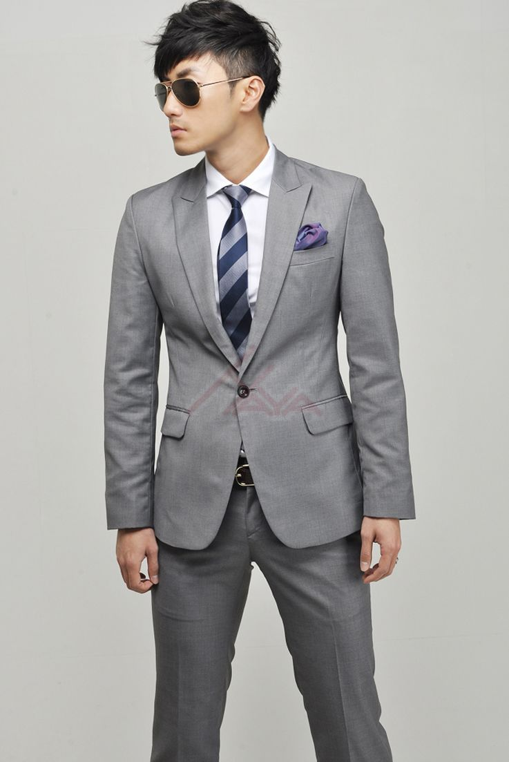 Hot Korean Men Slim casual suits men suit business professional ...