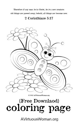 A New Creation Coloring Page Butterfly Coloring Page Creation