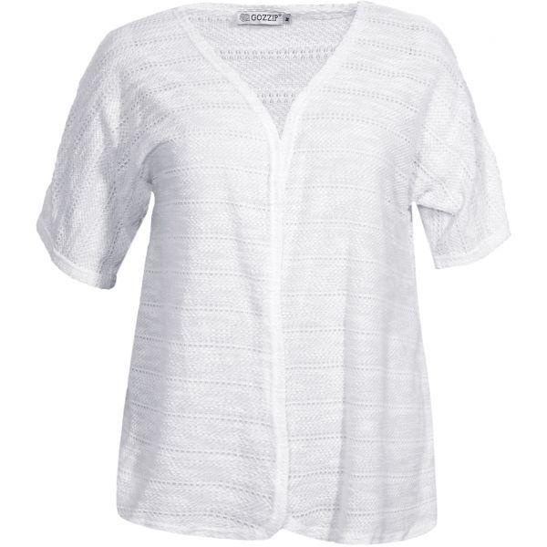 De lækreste Hvid cardigan i fint strik Gozzip Modetøj til Damer i fantastisk kvalitet