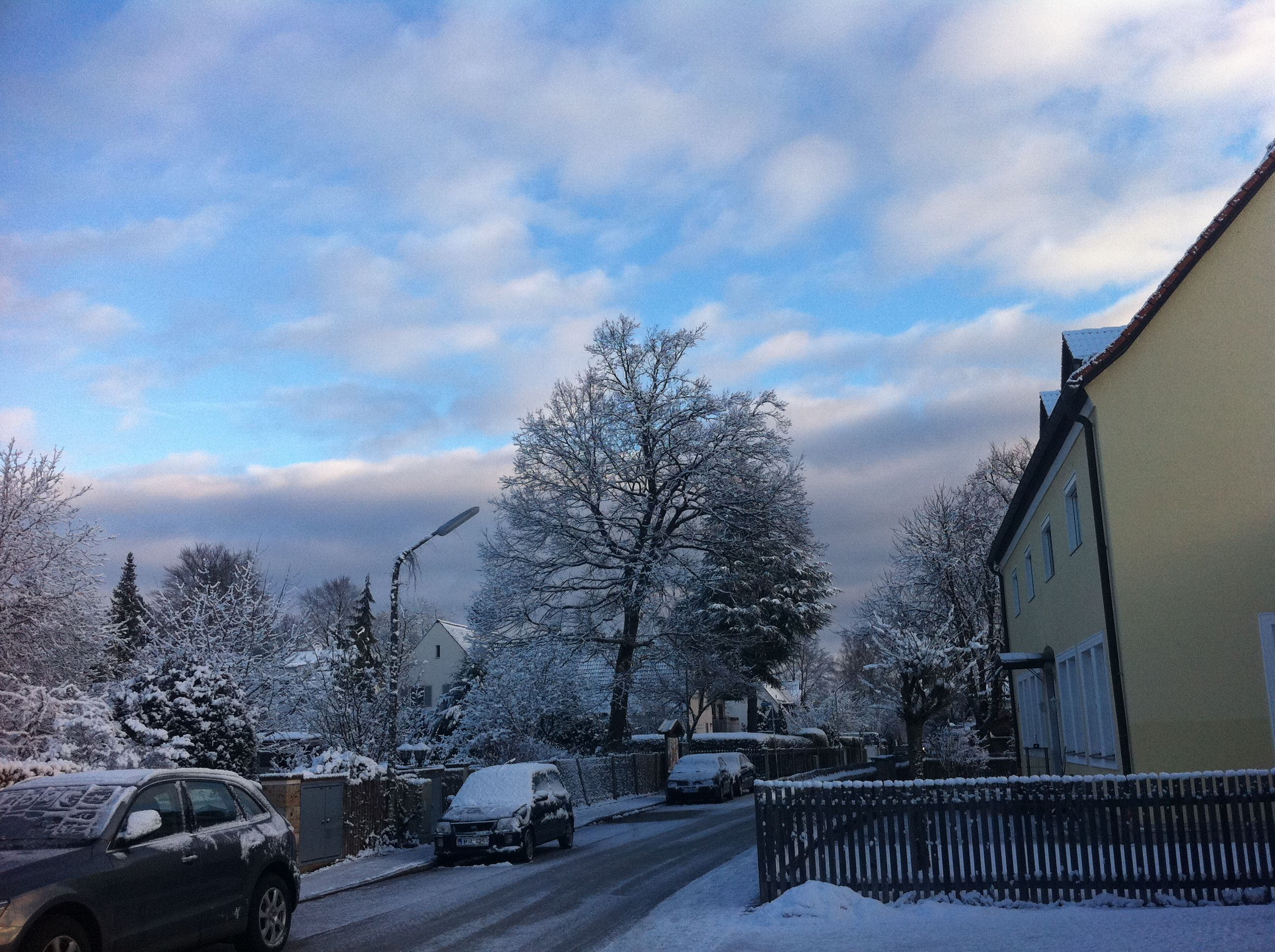 Snow in Pullach