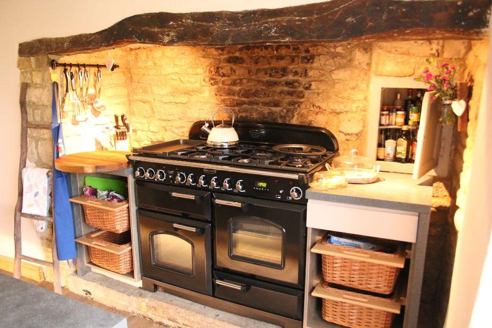 Range Cooker in Inglenook   Country kitchen, Cottage ...