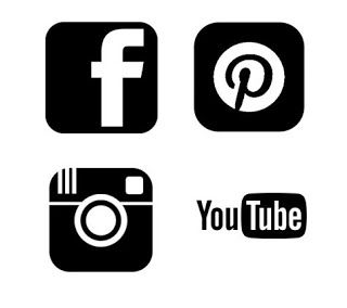 pinterest facebook instagram and youtube free svg logo