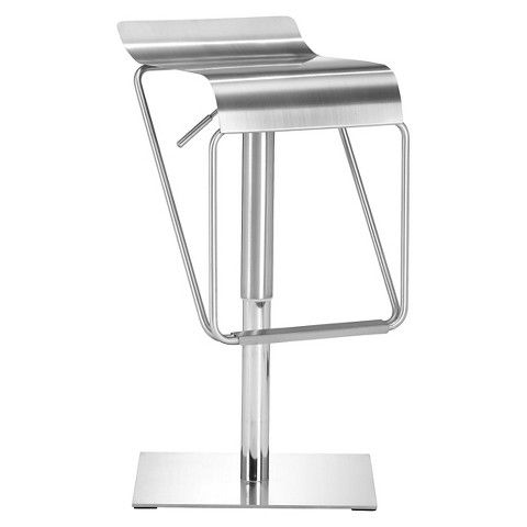 Zuo Dazzer 30 Barstool Stainless Steel Stainless Steel Bar Stools Steel Bar Stools Adjustable Bar Stools