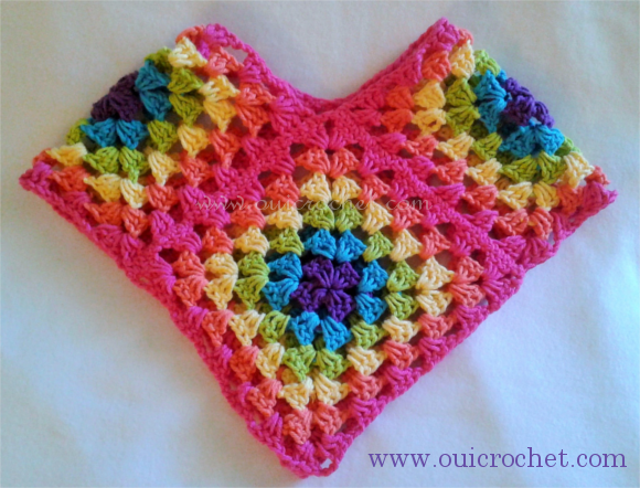 Granny Square Poncho: Size 12-18 months {Free Crochet Pattern ...