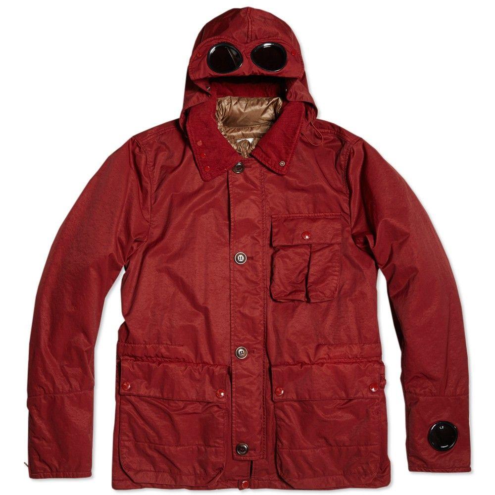 C.P. Company Garment Dyed Nylon Goggle Jacket. | CP