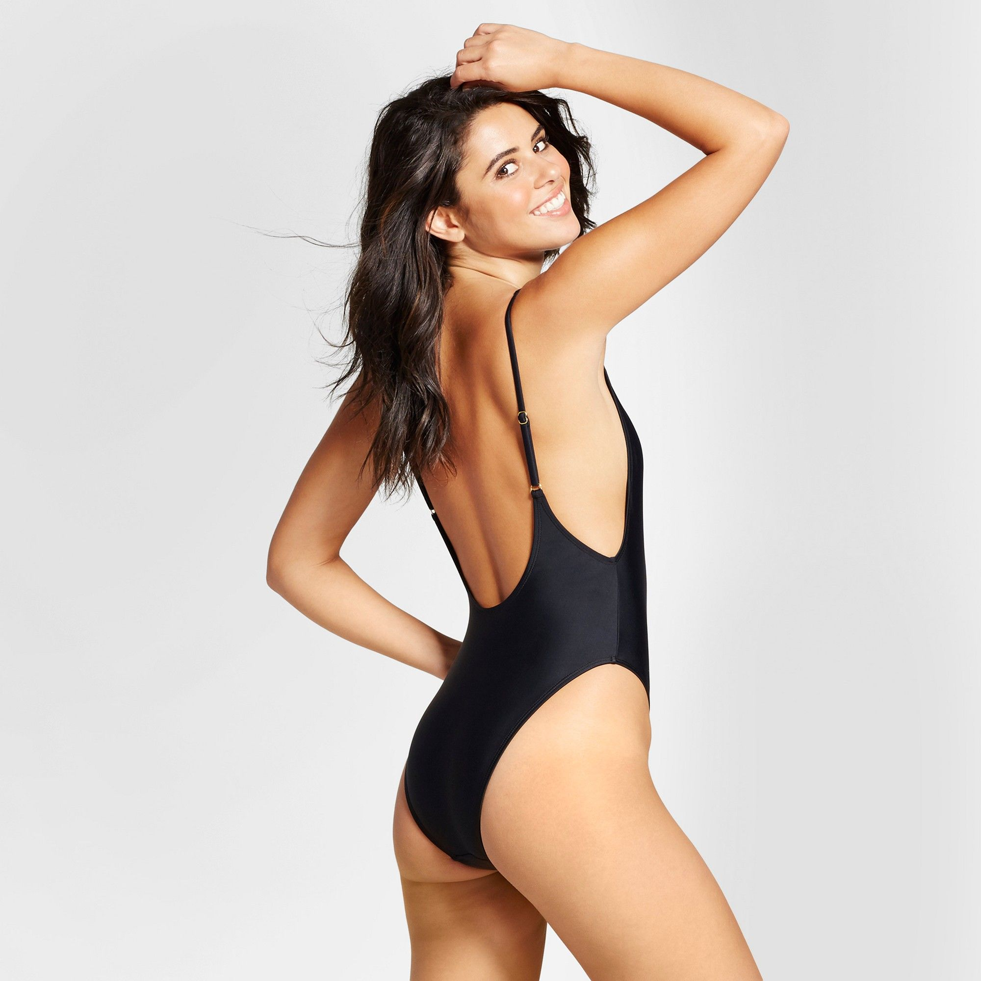 86ae068332076 Women's High Leg One Piece - Xhilaration Black M | Products | One ...