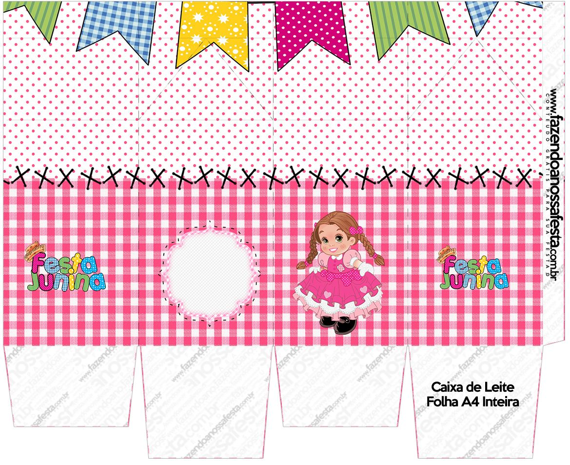 Caixa de Leite Kit Festa Junina Ros