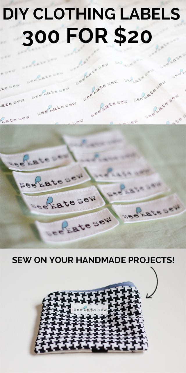 300 Clothing Labels For 20 See Kate Sew Sewing Labels Diy Clothes Tutorial Diy Labels