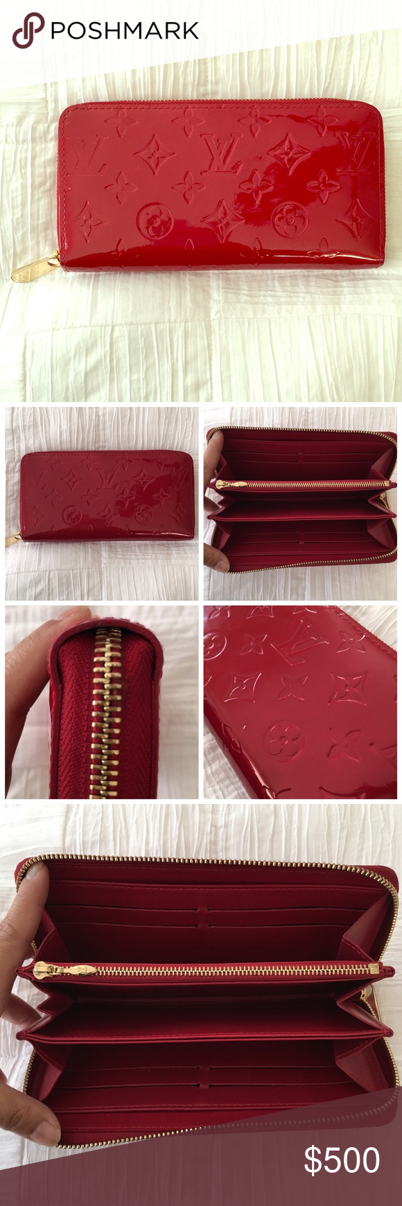 384d886118 Authentic Louis Vuitton Vernis Zippy wallet Authentic Louis Vuitton pomme  d amour Vernis Zippy wallet