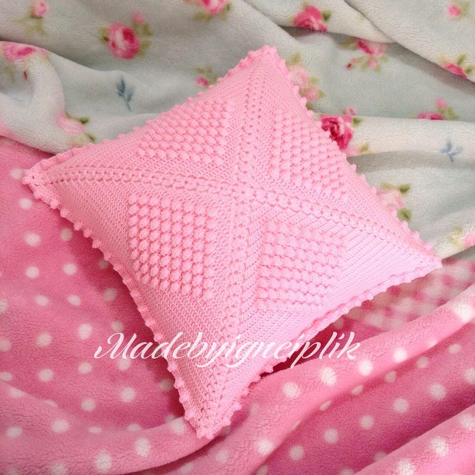 Popcorn crochet pillow İnstagram / madebyigneiplik | Madebyiğneiplik ...