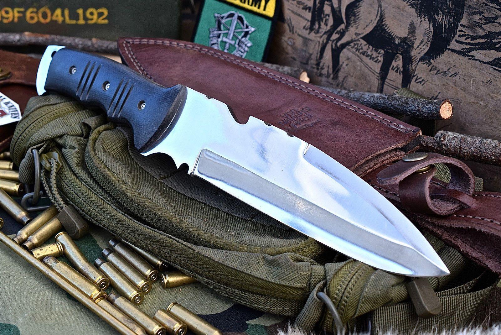 CFK USA Ipak Survival Custom Handmade D2 Large Ares God Bushman Camp EDC Knife | eBay