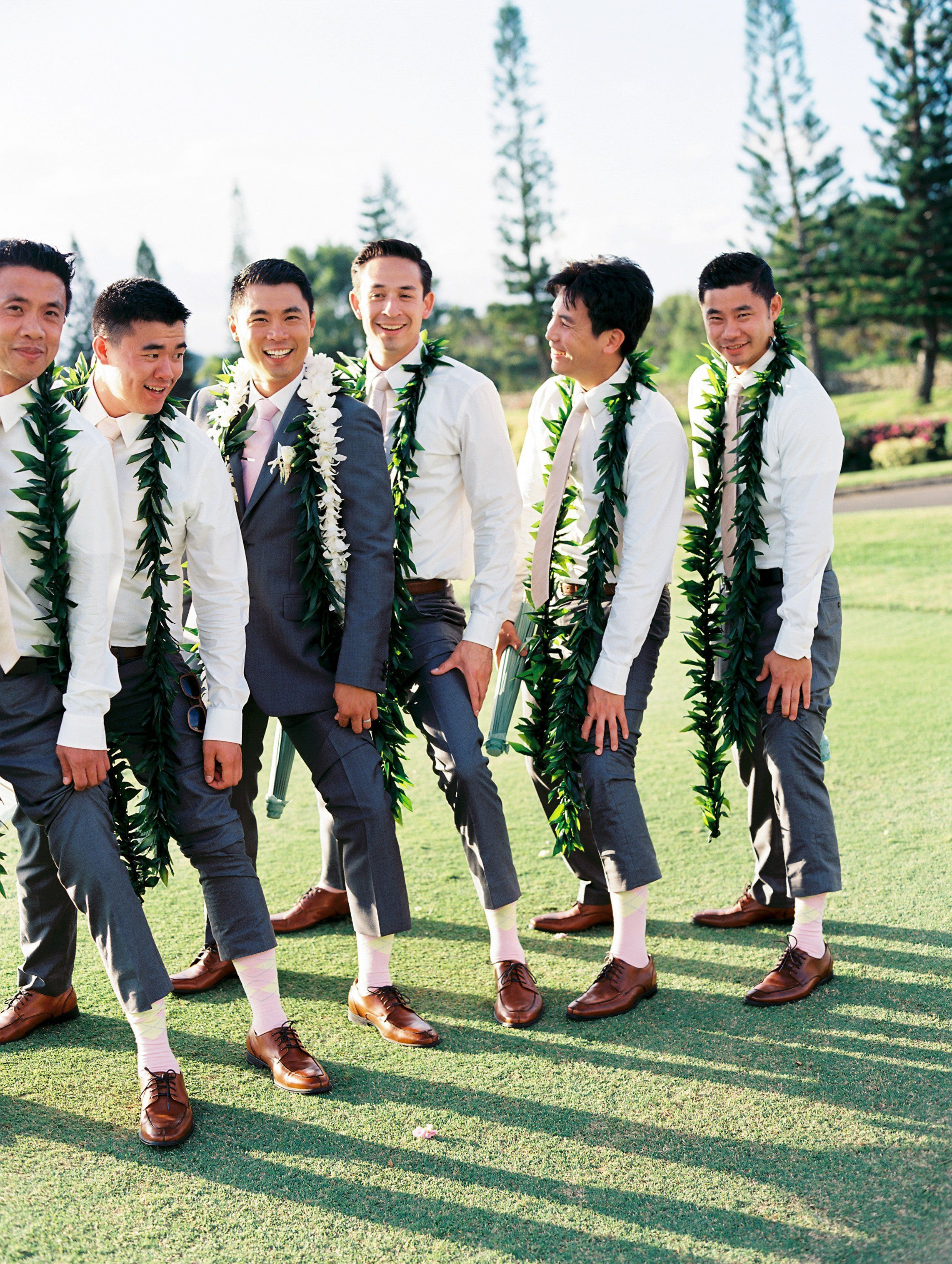 A fun and sophisticated groomsmen look the mix of classic
