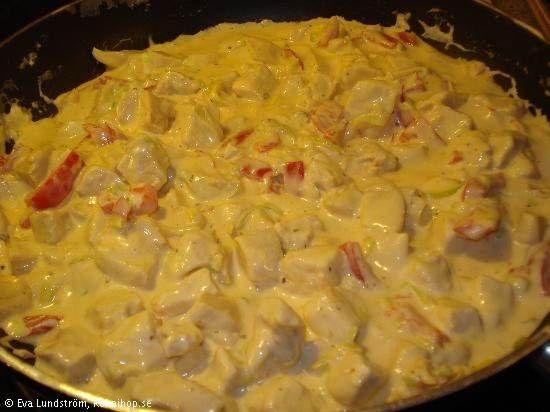 kycklinggryta med paprika och curry