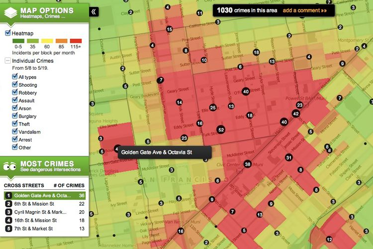Maps Trulia Crime Map Blog with Collection of Maps All Around