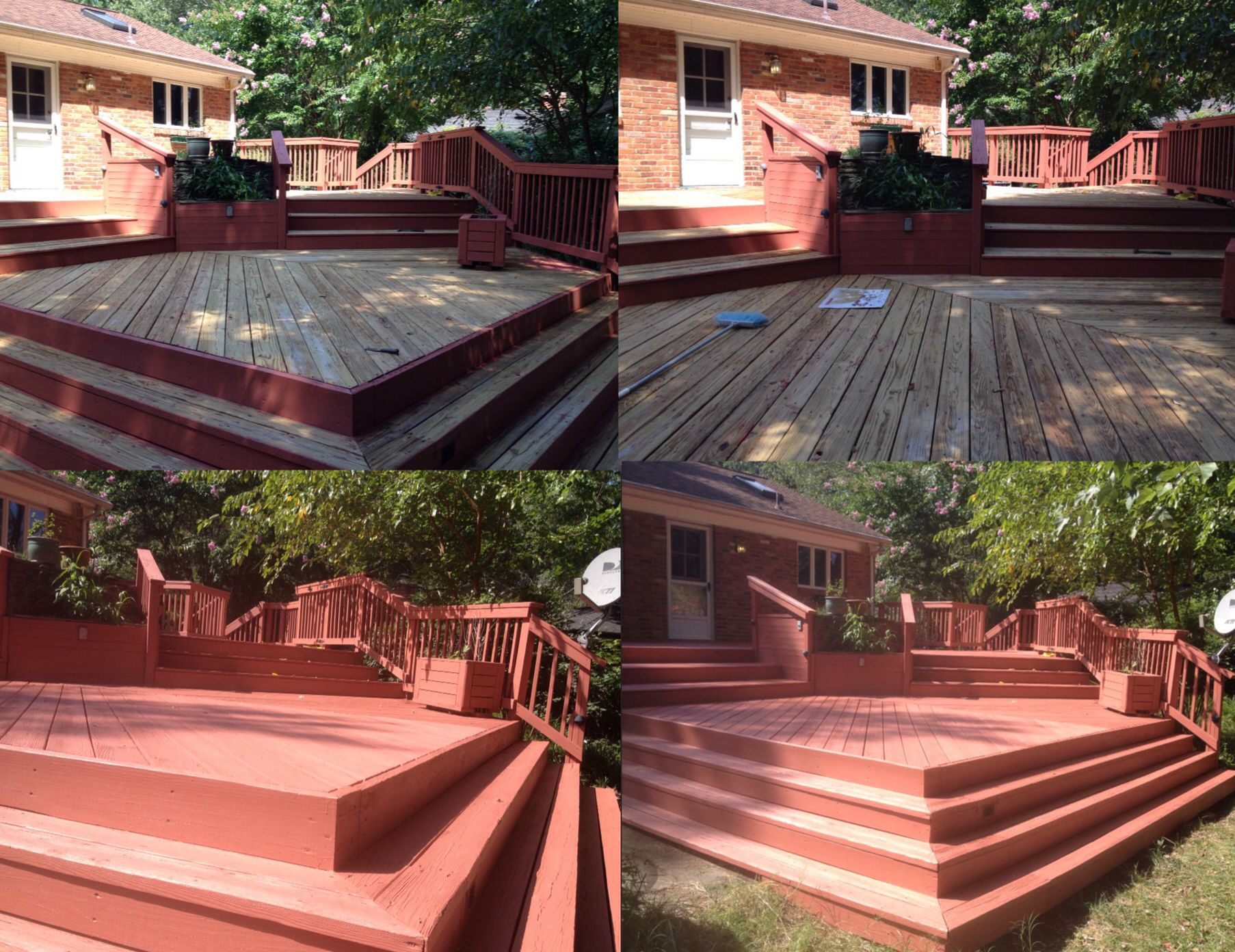 Deck pressure wash and deck staining in alexandria