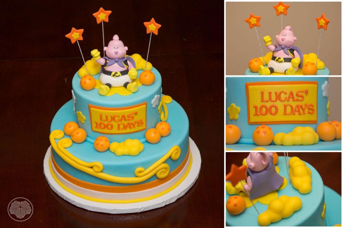 100 Day Cake With Dragon Ball Z Character Majin Buu Tortas Tortas Hermosas Pastel De Tortilla
