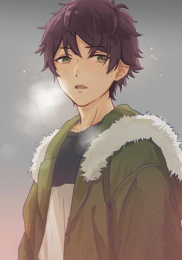 Anime Boy Dark Violet Brown Hair Cute Anime Guys Anime Cute Anime Boy