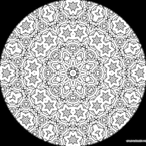 Coloriage mandala colorier en ligne mandala coloriage adulte via - Coloriage mandala en ligne ...