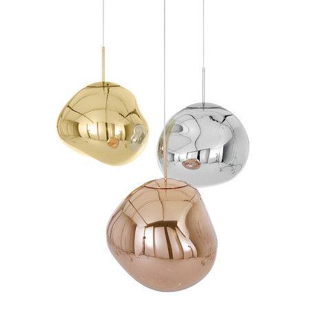 Melt Copper Pendant Light   Big