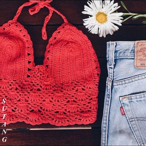 American Eagle Crocheted Red tunic FLASH SALE  Love this open holed- crocheted tunic by American Eagle, it's so fun and versatile , dress it up or down, I always feel good in it! One Small Snag , barely noticeable, on front right, Get the look!!!!!!! American Eagle Outfitters Sweaters