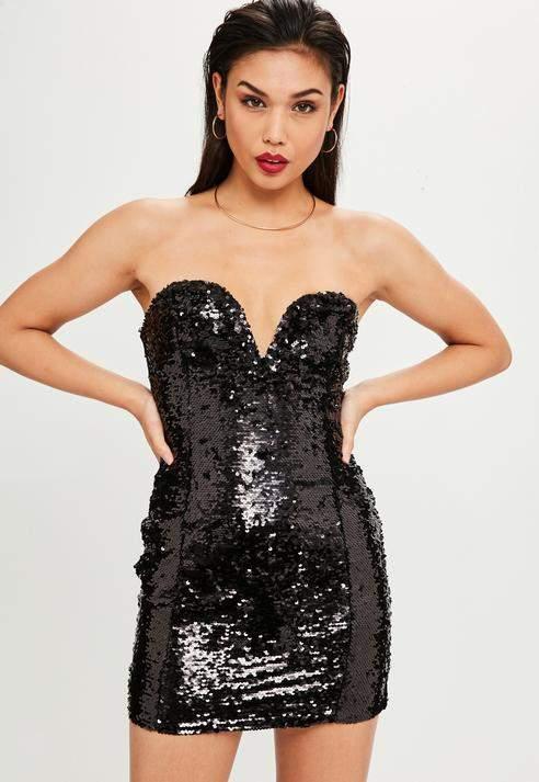 42+ Black sequin bandeau dress ideas in 2021