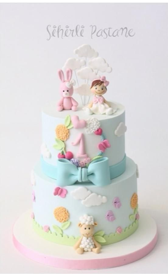 Baby Girl First Birthday Cake By Sihirli Pastane Cakes