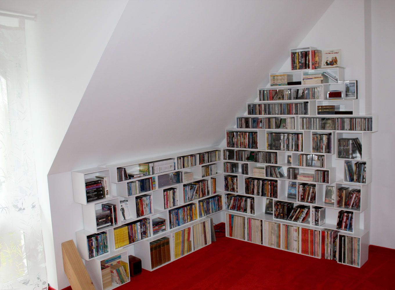 Bookcases For Slanted Ceiling Slanted Ceiling Slanted Walls Shelves